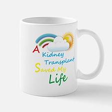 Kidney Transplant Rainbow Cloud Mug