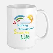 Kidney Transplant Rainbow Cloud Large Mug