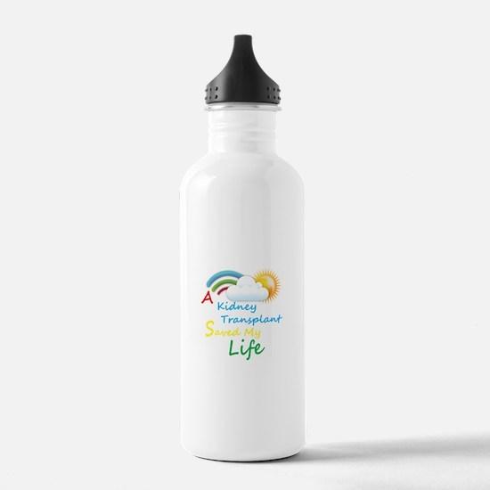 Kidney Transplant Rainbow Cloud Water Bottle