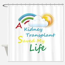 Kidney Transplant Rainbow Cloud Shower Curtain
