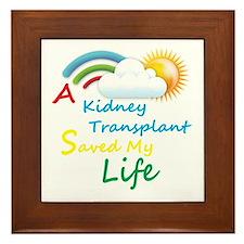 Kidney Transplant Rainbow Cloud Framed Tile
