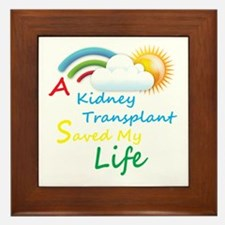 Kidney Transplant Rainbow Cloud Framed Tile