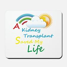 Kidney Transplant Rainbow Cloud Mousepad