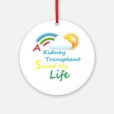 Kidney Transplant Rainbow Cloud Ornament (Round)