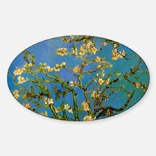 Blossoming Almond Tree by Vincent v Sticker (Oval)