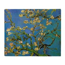 Blossoming Almond Tree by Vincent va Throw Blanket