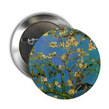 """Blossoming Almond Tree by Vincent van 2.25"""" Button"""