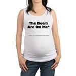 FIN-beers-on-me.png Maternity Tank Top