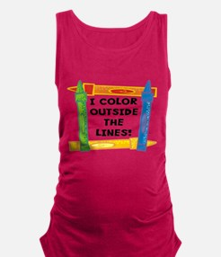 FIN-color-outside-lines.png Maternity Tank Top