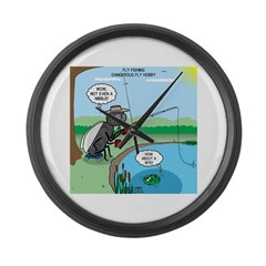 Fly Fishing Large Wall Clock