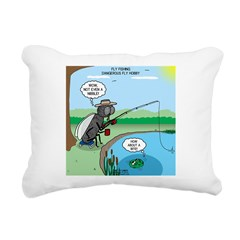 Fly Fishing Rectangular Canvas Pillow