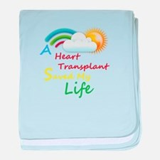 Heart Transplant Rainbow Cloud baby blanket