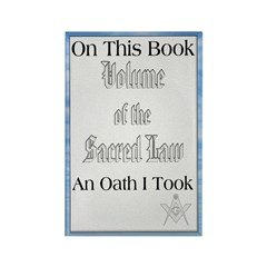 Masonic VSL Oath Rectangle Magnet (100 pack)