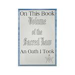 Masonic VSL Oath Rectangle Magnet (10 pack)