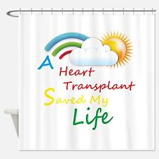 Heart Transplant Rainbow Cloud Shower Curtain