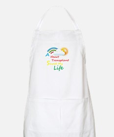 Heart Transplant Rainbow Cloud Apron