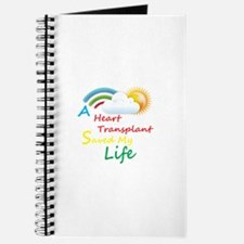 Heart Transplant Rainbow Cloud Journal