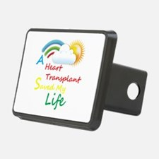 Heart Transplant Rainbow Cloud Hitch Cover