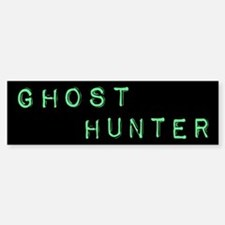 Ghost Hunter (Label Text) Bumper Bumper Sticker