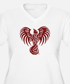 Red Phoenix Mouse Pad Plus Size T-Shirt