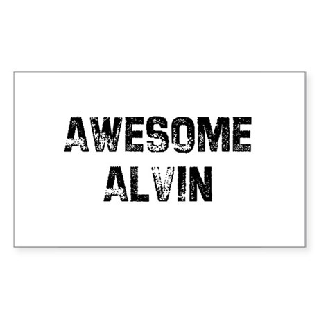 Awesome Alvin Rectangle Sticker
