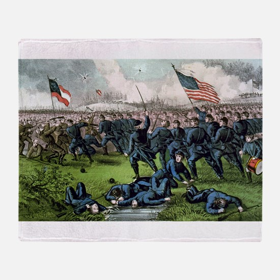 Battle of Corinth, Miss - 1862 Throw Blanket