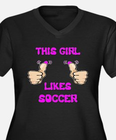 This Girl Likes Soccer Women's Plus Size V-Neck Da