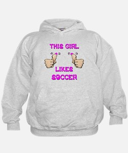 This Girl Likes Soccer Hoodie