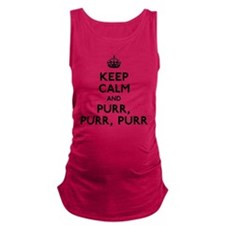 Keep Calm and Purr Maternity Tank Top