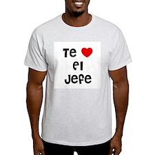 Te * El Jefe Ash Grey T-Shirt