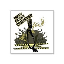 """Dirty Filthy Dubstep Square Sticker 3"""" x 3"""""""