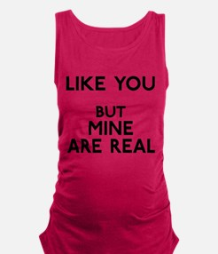 FIN-like-you-mine-real.png Maternity Tank Top