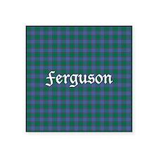 "Tartan - Ferguson Square Sticker 3"" x 3"""