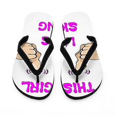 This Girl Likes Skiing Flip Flops