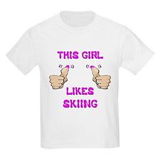 This Girl Likes Skiing T-Shirt