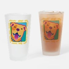 Bright Pittie Drinking Glass