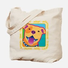 Bright Pittie Tote Bag