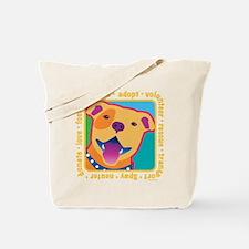 Bright Pittie Tote Bag