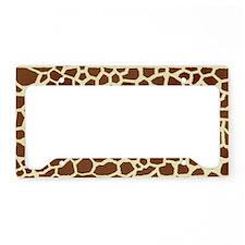 Giraffe Print License Plate Holder