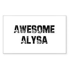 Awesome Alysa Rectangle Decal