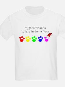Afghan Hounds Believe Kids T-Shirt