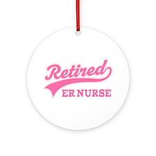 Retired ER Nurse Ornament (Round)