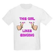 This Girl Likes Singing T-Shirt
