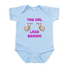 This Girl Likes Singing Infant Bodysuit