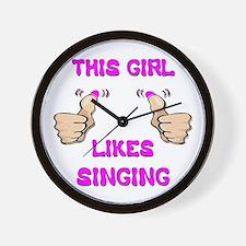 This Girl Likes Singing Wall Clock