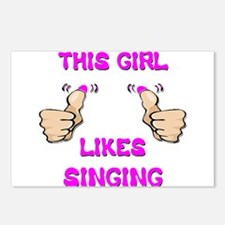This Girl Likes Singing Postcards (Package of 8)