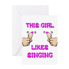 This Girl Likes Singing Greeting Card