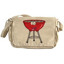 cartoon BBQ grill Messenger Bag