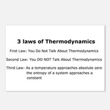 3 laws of Thermodynamics Postcards (Package of 8)