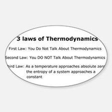 3 laws of Thermodynamics Oval Decal